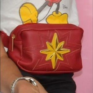 Captain Marvel Fanny Pack Handbag Strap Red & Gold